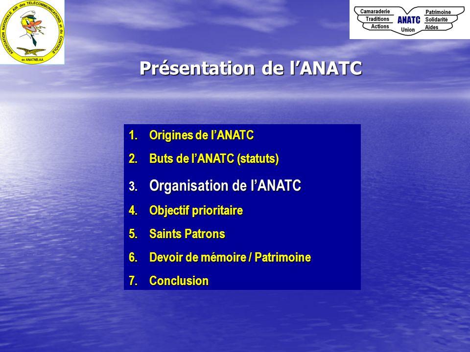 1.Origines de l'ANATC 2. Buts de l'ANATC (statuts) 3.