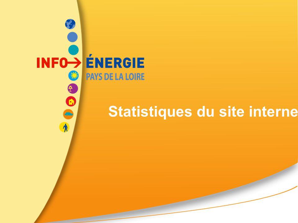 Statistiques du site internet régional