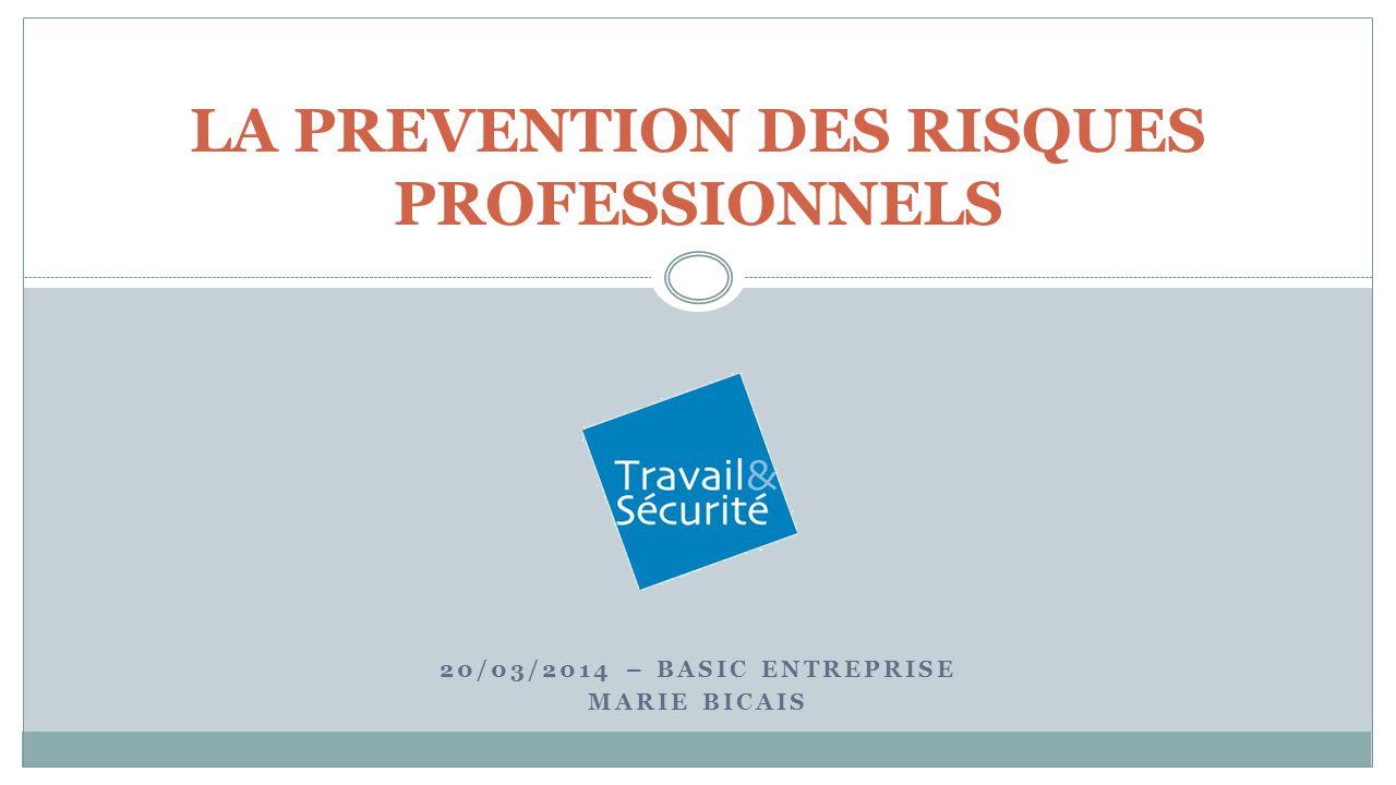 20/03/2014 – BASIC ENTREPRISE MARIE BICAIS LA PREVENTION DES RISQUES PROFESSIONNELS