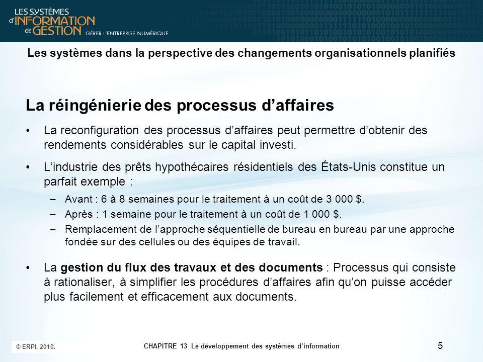 CHAPITRE 13 Le développement des systèmes d'information © ERPI, 2010.