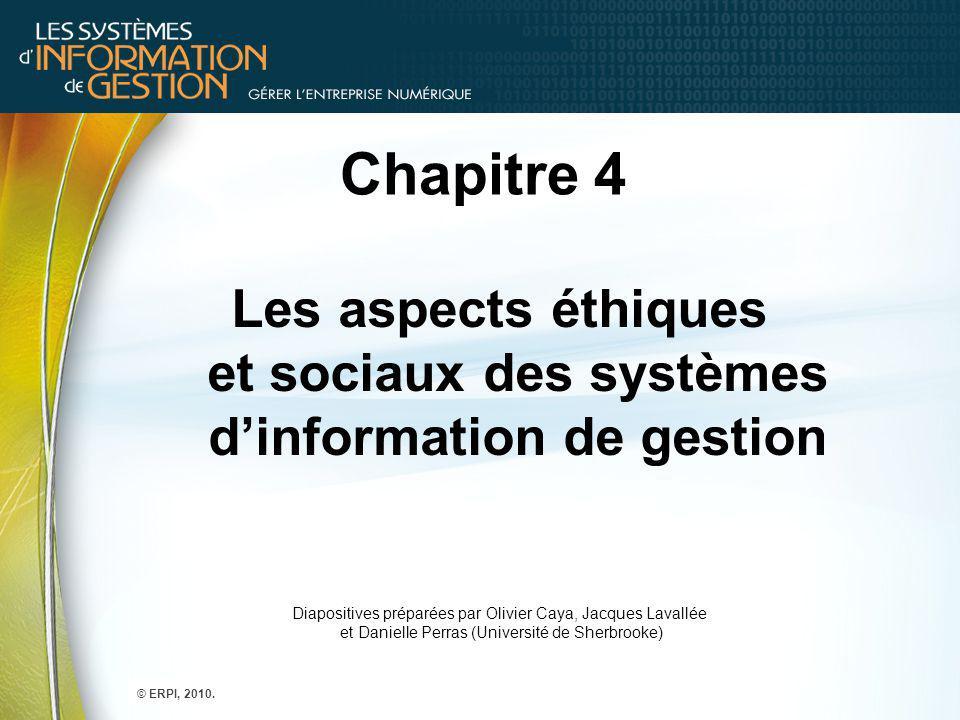 1.Quelles questions d'ordre éthique, social et politique soulèvent les systèmes d'information .
