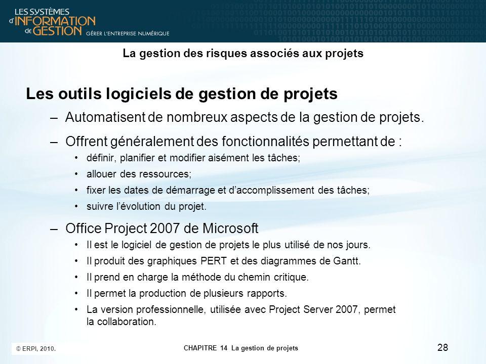 CHAPITRE 14 La gestion de projets © ERPI, 2010.