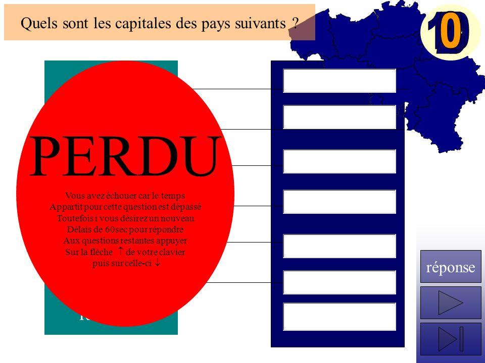 Algérie Maroc Albanie Macédoine Bulgarie Yougoslavie Roumanie Quels sont les capitales des pays suivants .