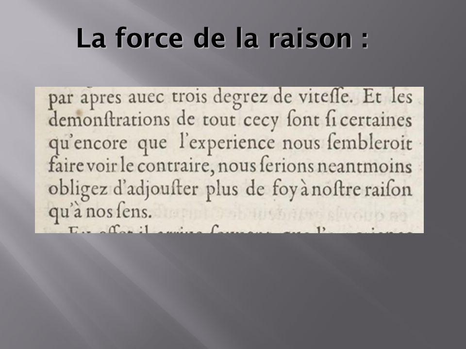  Modifiez les styles du texte du masque Deuxième niveau Troisième niveau Quatrième niveau Cinquième niveau La force de la raison :