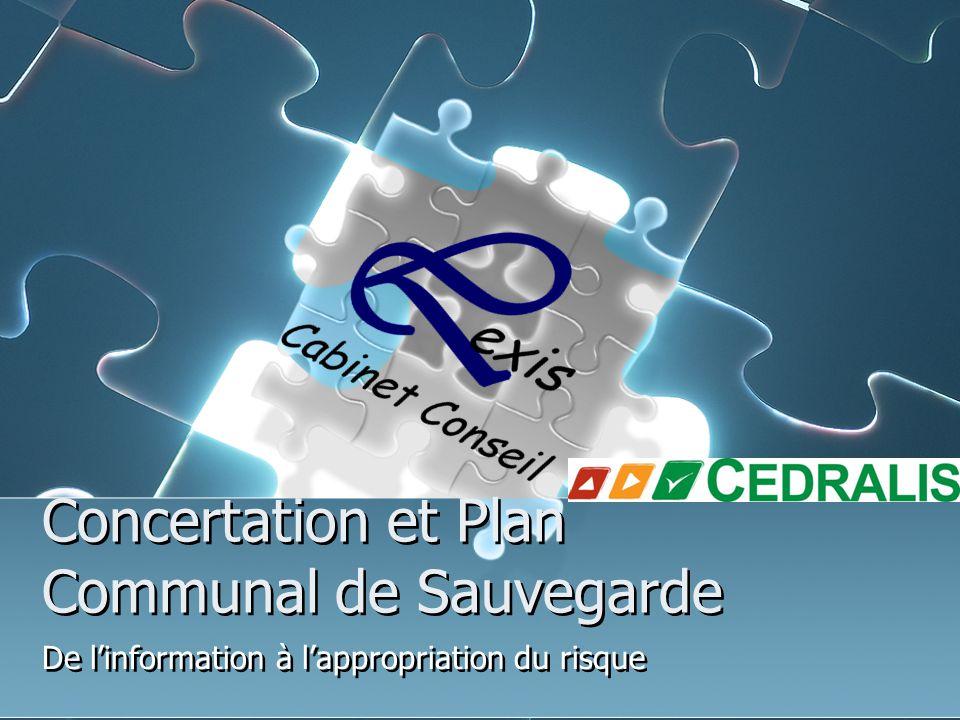 Concertation et Plan Communal de Sauvegarde De l'information à l'appropriation du risque