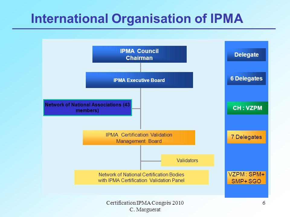 Certification IPMA Congrès 2010 C.