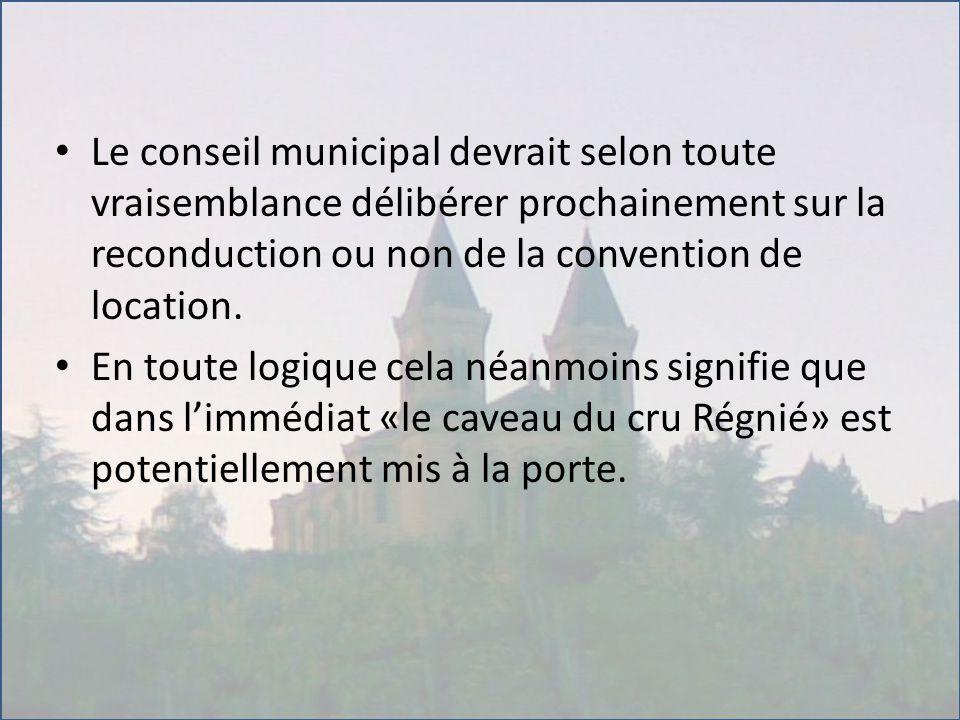 Le conseil municipal devrait selon toute vraisemblance délibérer prochainement sur la reconduction ou non de la convention de location. En toute logiq