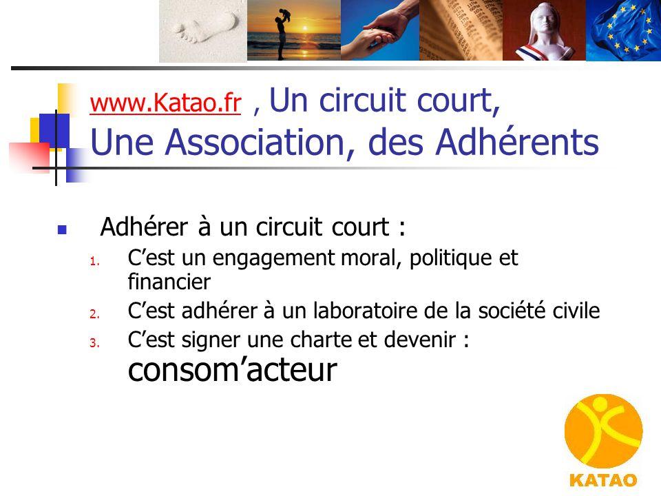 www.Katao.frwww.Katao.fr, Un circuit court, Une Association, des Adhérents Adhérer à un circuit court : 1. C'est un engagement moral, politique et fin