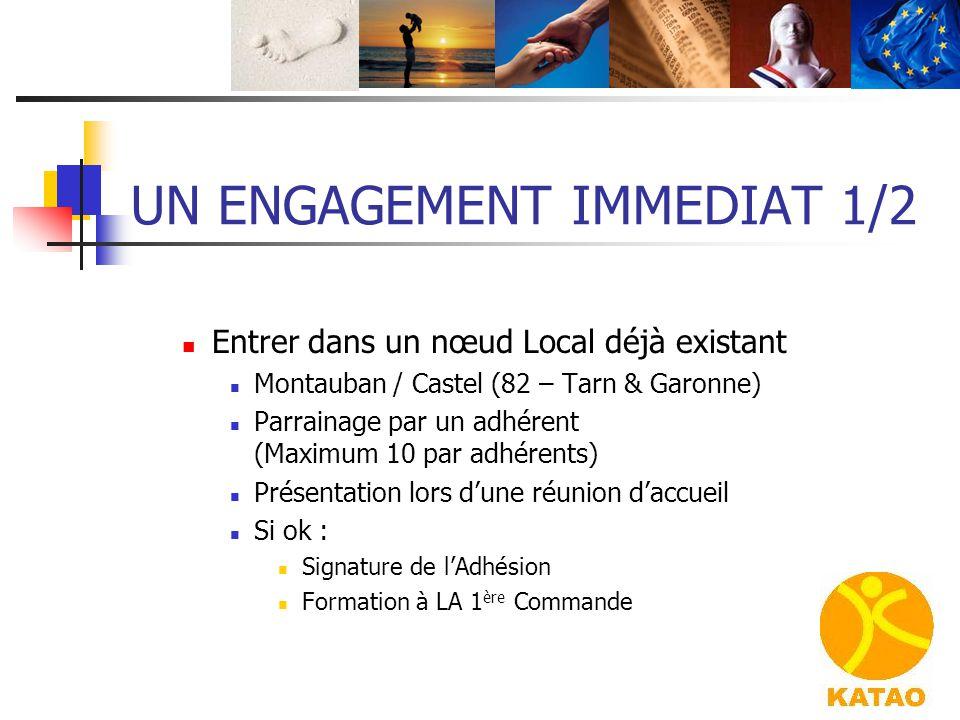 UN ENGAGEMENT IMMEDIAT 1/2 Entrer dans un nœud Local déjà existant Montauban / Castel (82 – Tarn & Garonne) Parrainage par un adhérent (Maximum 10 par