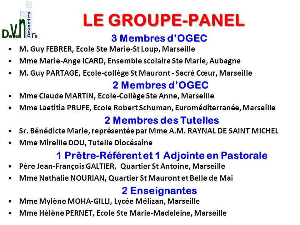 M. Guy FEBRER, Ecole Ste Marie-St Loup, Marseille Mme Marie-Ange ICARD, Ensemble scolaire Ste Marie, Aubagne M. Guy PARTAGE, Ecole-collège St Mauront