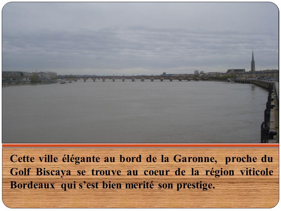 Cette ville élégante au bord de la Garonne, proche du Golf Biscaya se trouve au coeur de la région viticole Bordeaux qui s'est bien merité son prestig