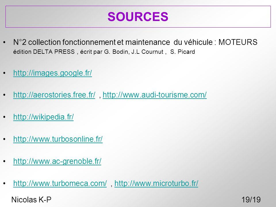 SOURCES N°2 collection fonctionnement et maintenance du véhicule : MOTEURS édition DELTA PRESS, écrit par G. Bodin, J.L Cournut, S. Picard http://imag