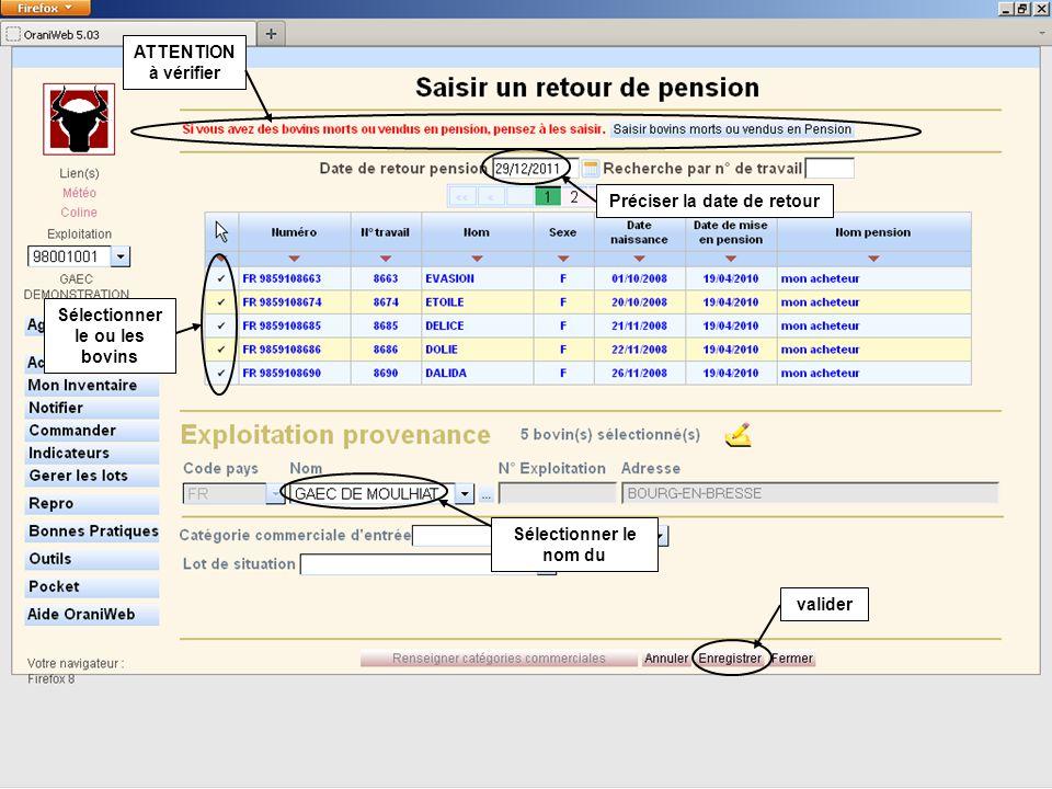 GESTION DU STOCK DE BOUCLES