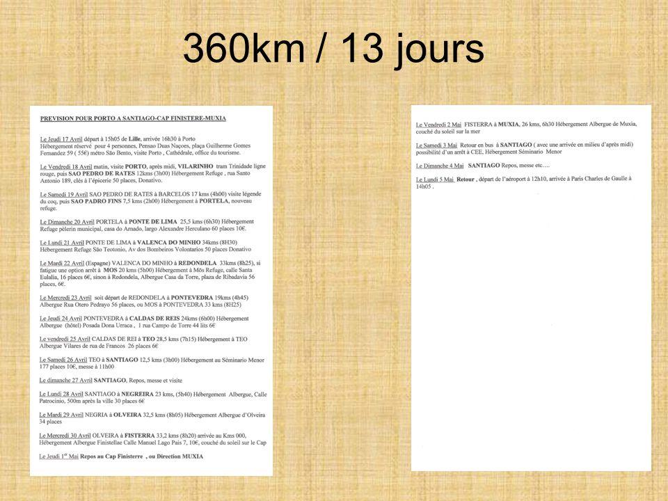 360km / 13 jours