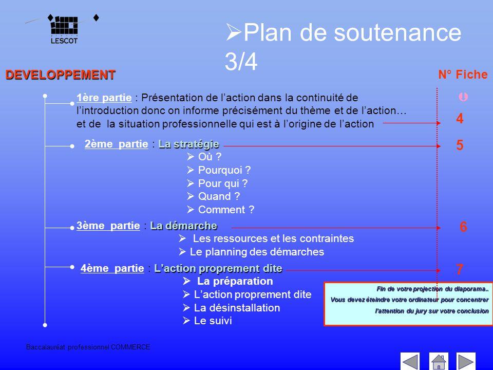 Baccalauréat professionnel COMMERCE DEVELOPPEMENT Fin de votre projection du diaporama..