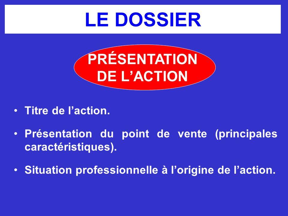 LE DOSSIER Caractéristiques du produit ou de la ligne de produits.