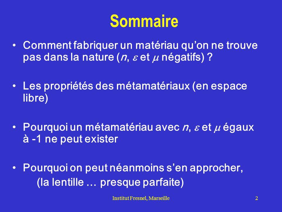 Institut Fresnel, Marseille3 MMG: les pionniers Définition d'un matériau main gauche, lentille nouvelle: V.G.