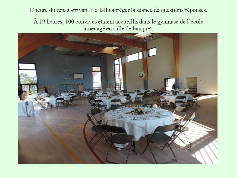 L'heure du repas arrivant il a fallu abréger la séance de questions/réponses.