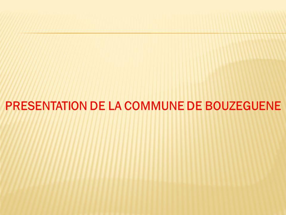 PRESENTATION DE LA COMMUNE DE BOUZEGUENE