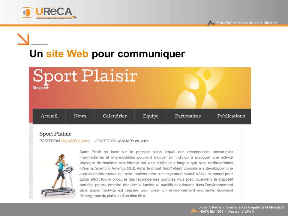 Un site Web pour communiquer