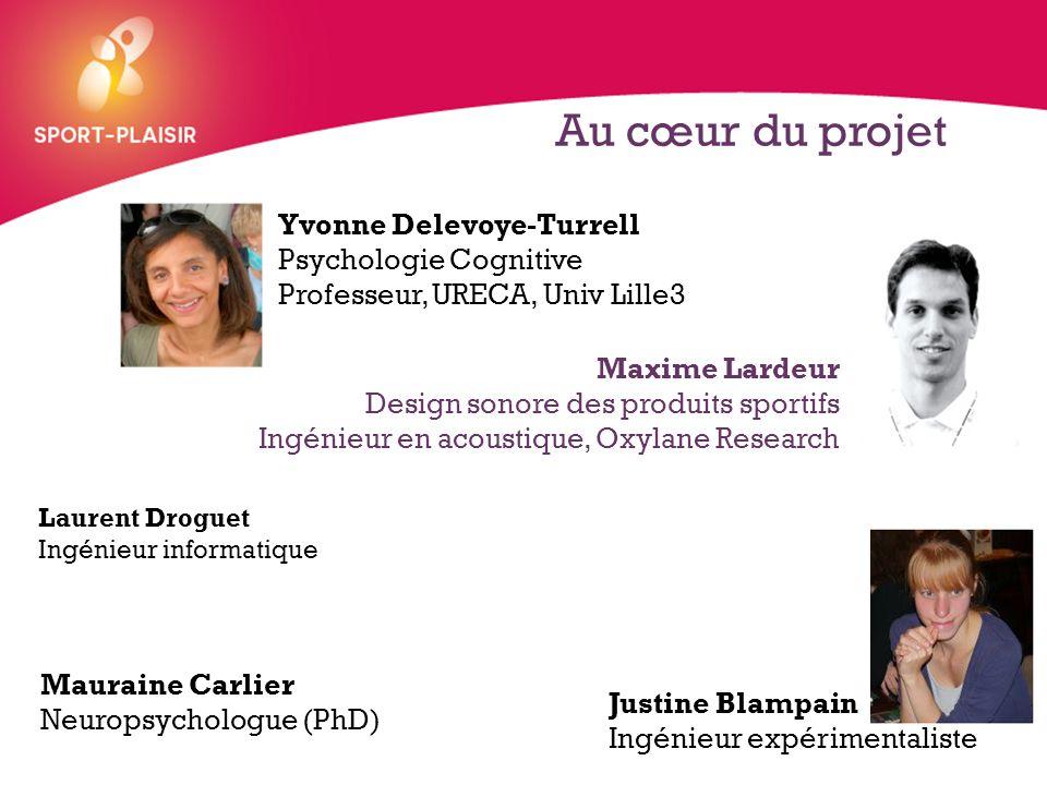 + Au cœur du projet Maxime Lardeur Design sonore des produits sportifs Ingénieur en acoustique, Oxylane Research Yvonne Delevoye-Turrell Psychologie C