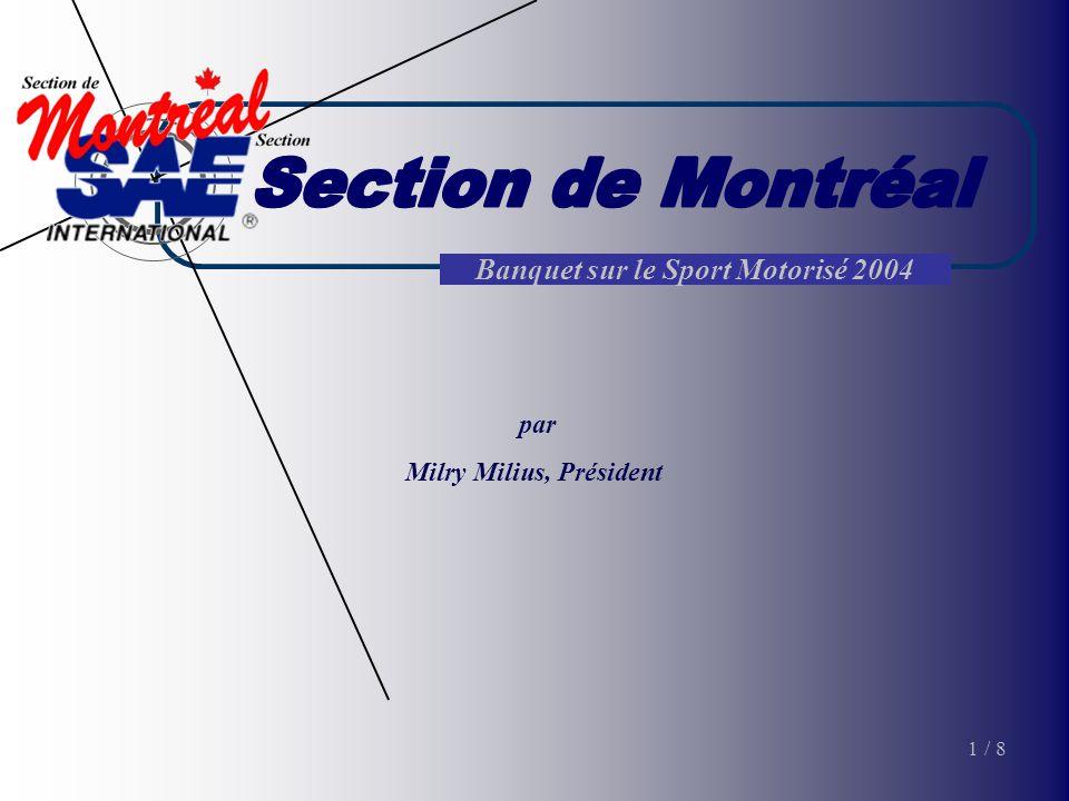 Banquet sur le Sport Motorisé 2004 par Milry Milius, Président 1/ 8