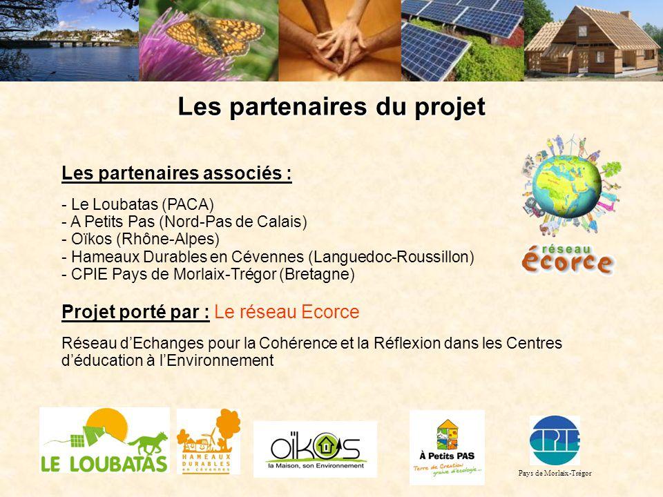 Les partenaires du projet Les partenaires associés : - Le Loubatas (PACA) - A Petits Pas (Nord-Pas de Calais) - Oïkos (Rhône-Alpes) - Hameaux Durables