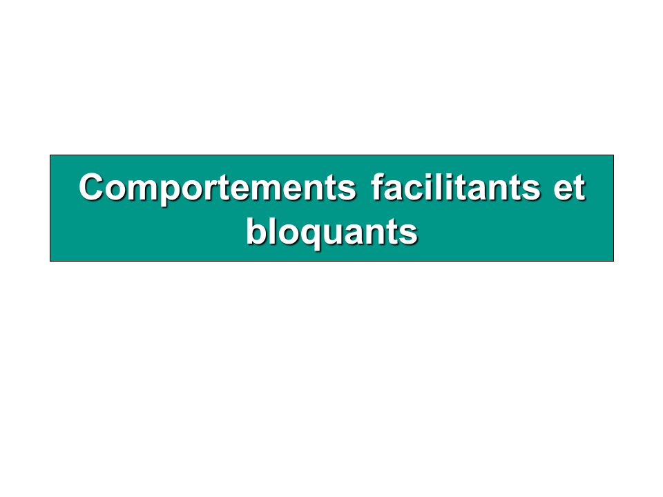 Comportements facilitants et bloquants