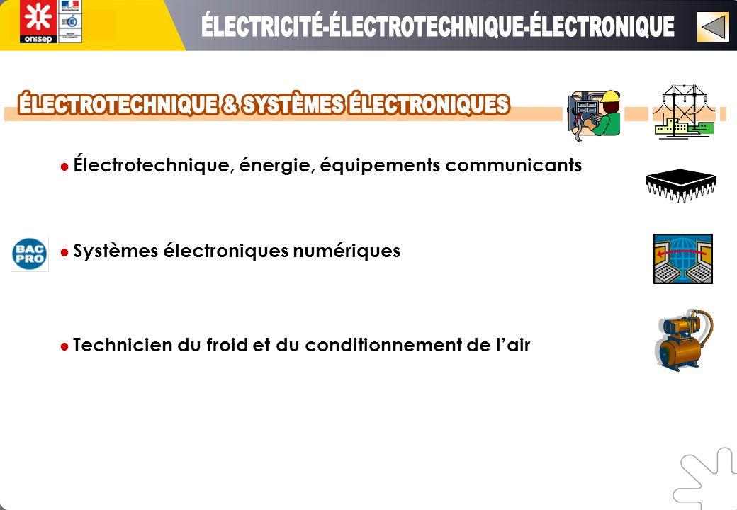 Électrotechnique, énergie, équipements communicants Systèmes électroniques numériques Technicien du froid et du conditionnement de l'air