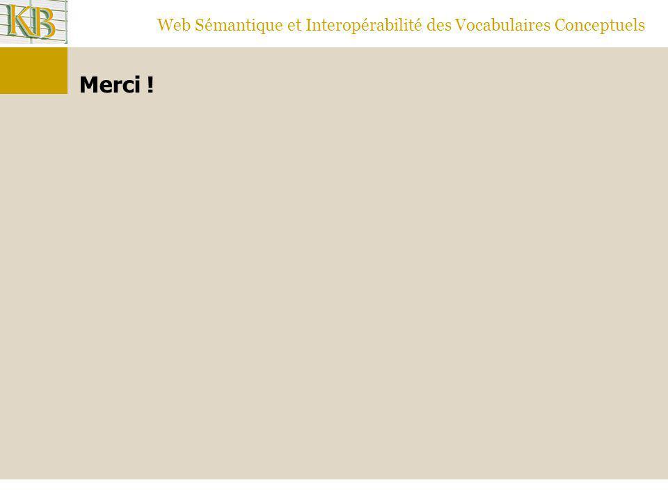 Web Sémantique et Interopérabilité des Vocabulaires Conceptuels Merci !