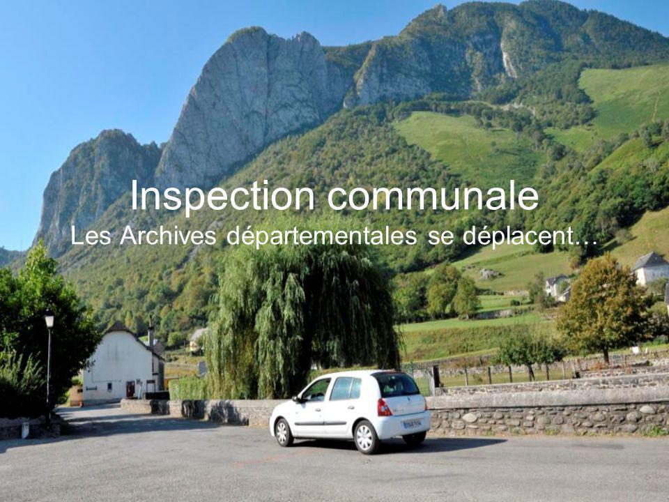 Présentation d'un tableau relatif à la gestion des archives communales.
