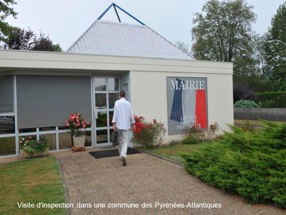 Visite d'inspection dans une commune des Pyrénées-Atlantiques