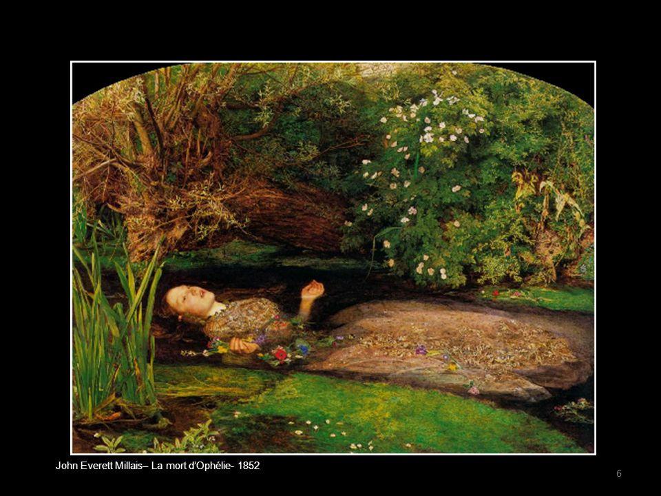 John Everett Millais– La mort d'Ophélie- 1852 6