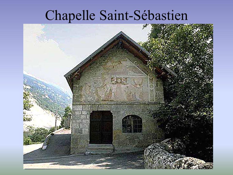 Chapelle Saint-Érige, Auron - Abside de droite, registre inférieur - - Vue d'ensemble : saint Érige guérit les lépreux -