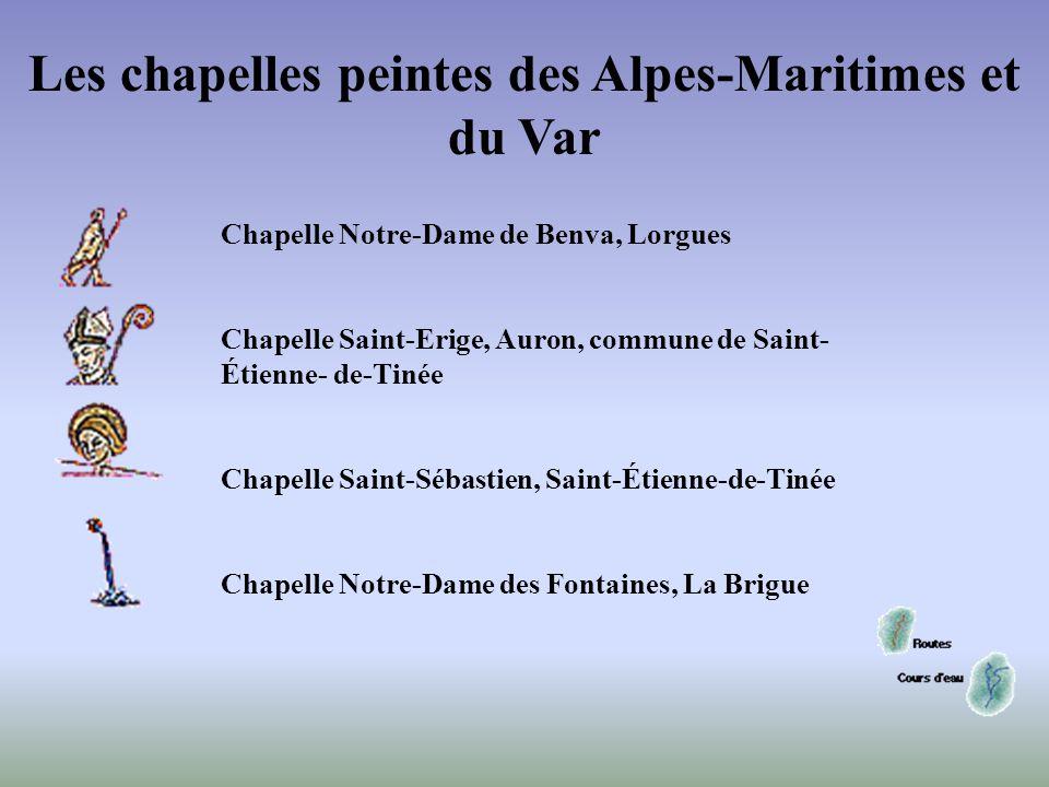 Sanctuaire Notre- Dame des Fontaines, La Brigue - Nef, arc triomphal - - Cycle de l'Enfance du Christ : Fuite en Égypte (9/11) - - Détail : personnage