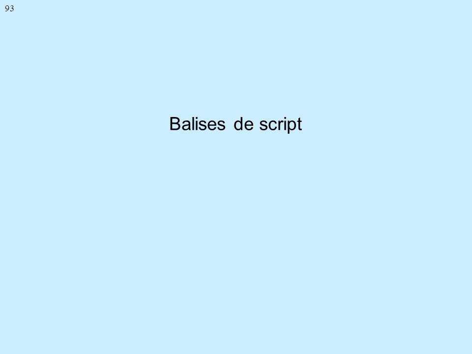 93 Balises de script