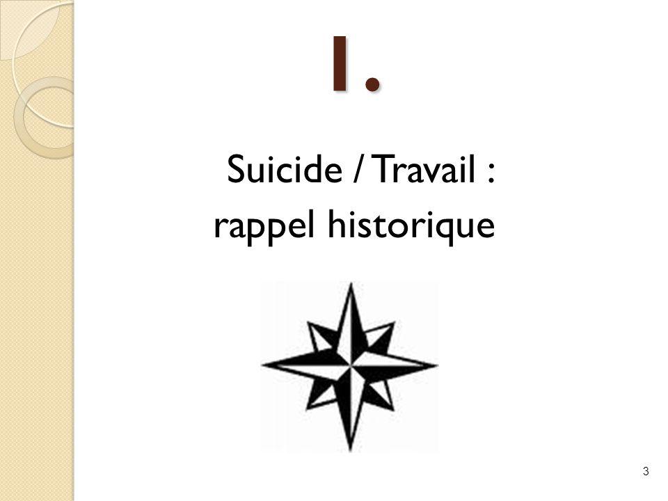 1. Suicide / Travail : rappel historique 3