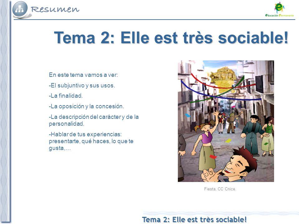 Tema 2: Elle est très sociable. Fiesta, CC Cnice.