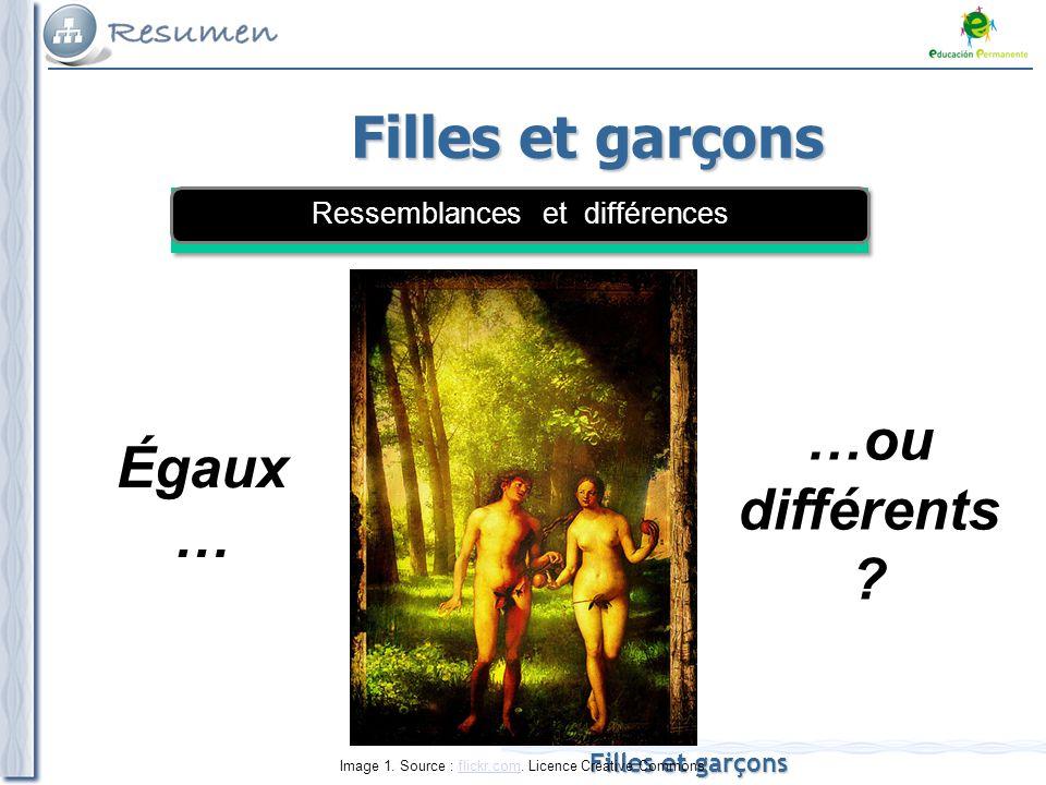 Filles et garçons Égaux … Image 1. Source : flickr.com.