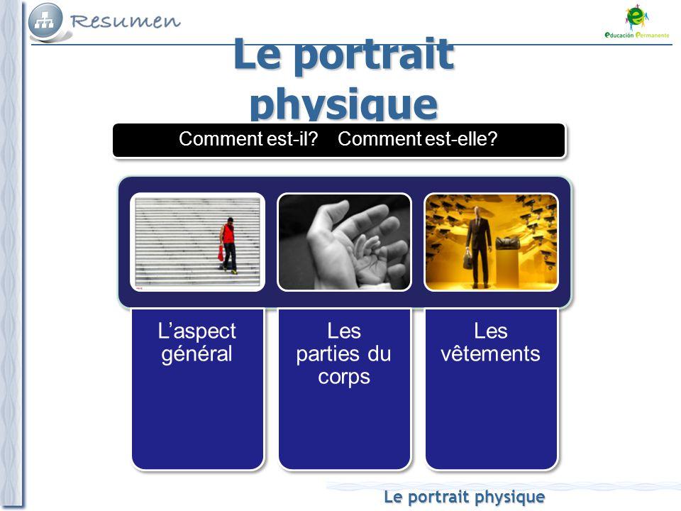 Le portrait physique L'aspect général Les parties du corps Les vêtements