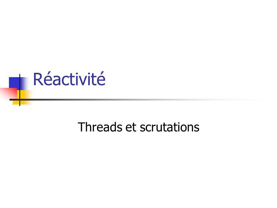 Réactivité Threads et scrutations
