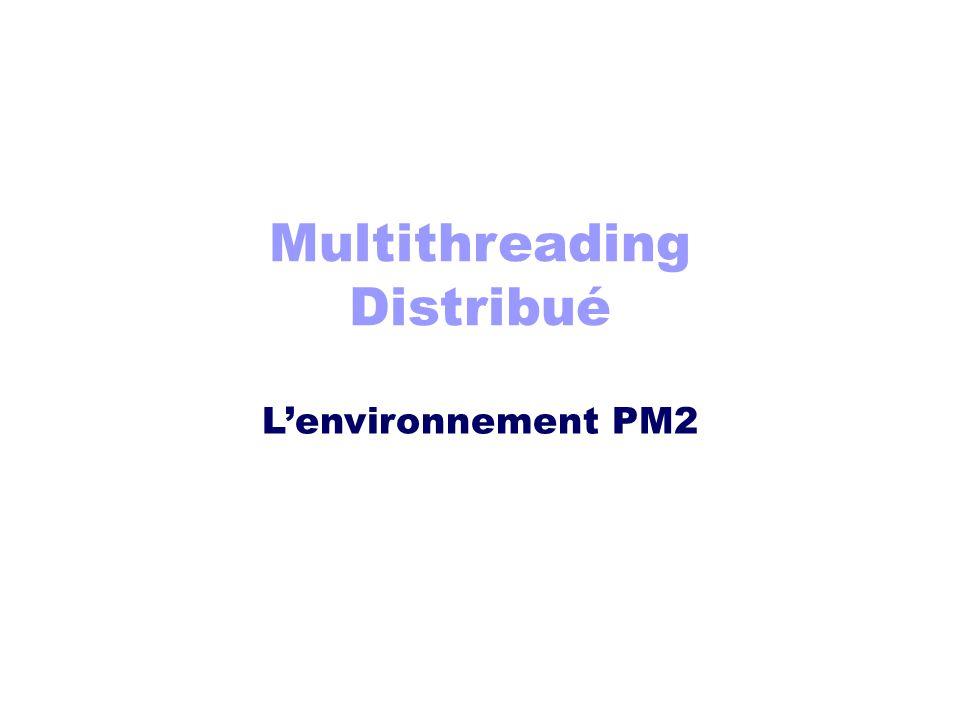 Multithreading Distribué L'environnement PM2