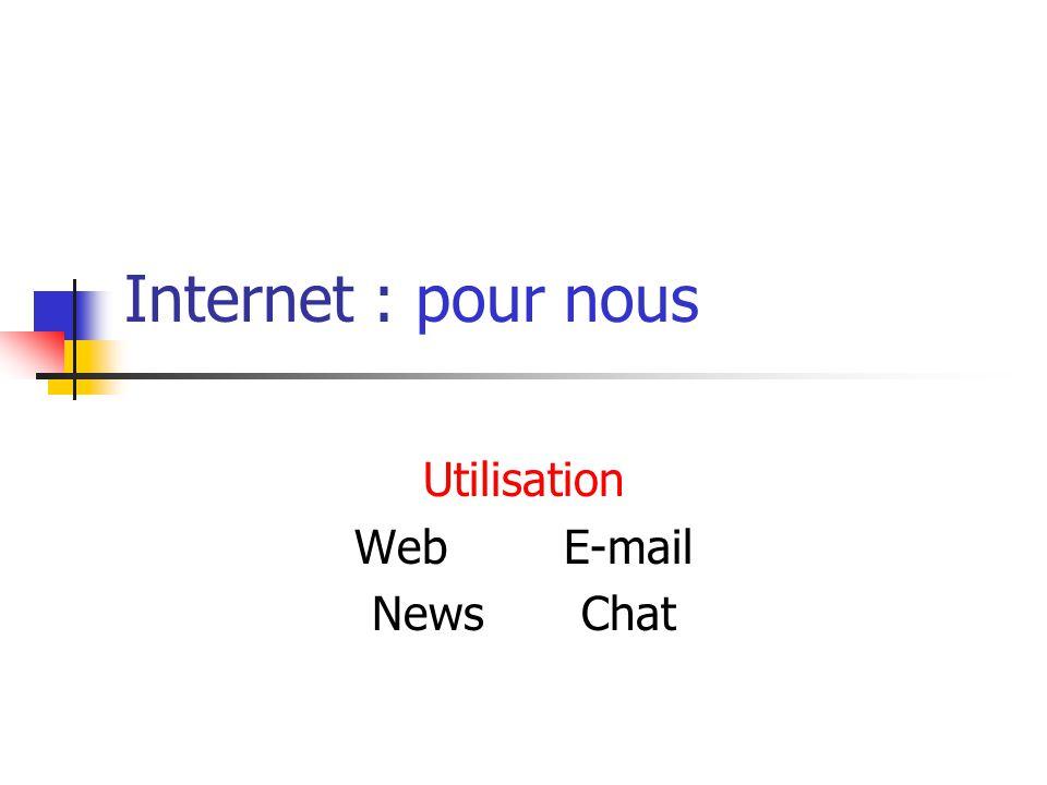 Internet : pour nous Utilisation WebE-mail NewsChat