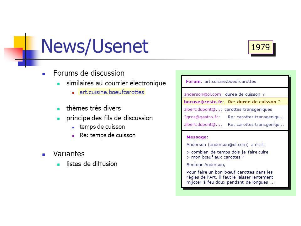 News/Usenet Forum: art.cuisine.boeufcarottes anderson@ol.com: duree de cuisson ? bocuse@resto.fr:Re: duree de cuisson ? albert.dupont@...: carottes tr