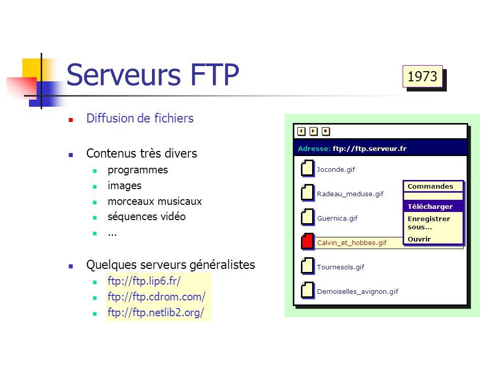 Serveurs FTP Joconde.gifRadeau_meduse.gifGuernica.gif Calvin_et_hobbes.gif Tournesols.gifDemoiselles_avignon.gif Adresse: ftp://ftp.serveur.fr    
