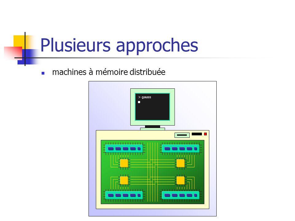 Plusieurs approches machines à mémoire distribuée > gauss