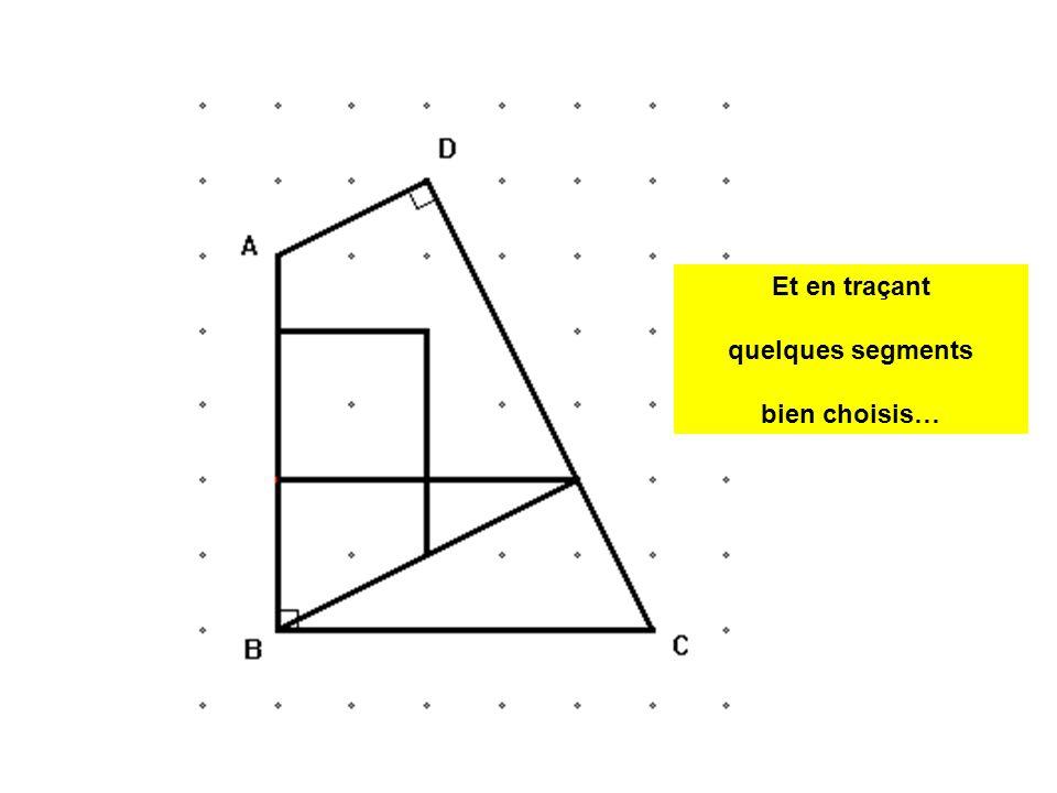 Un carré Un triangle rectangle Un deuxième triangle rectangle Un trapèze rectangle Un hexagone .