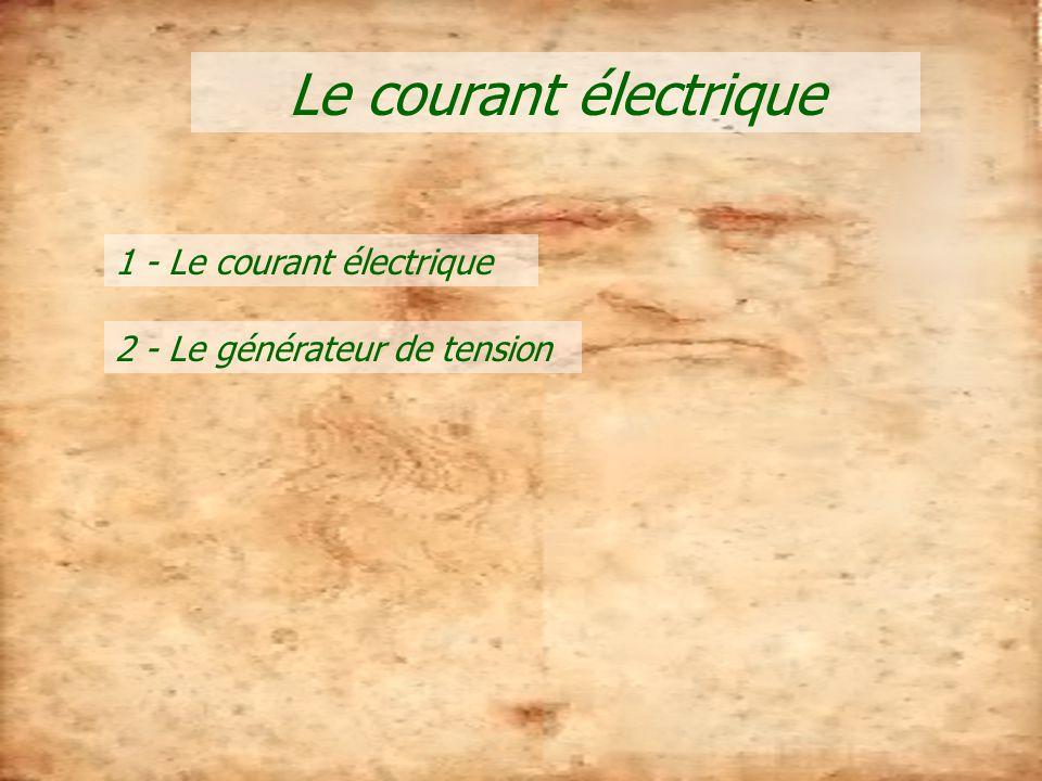 Le courant électrique 1 - Le courant électrique 2 - Le générateur de tension