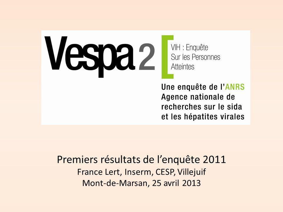 Premiers résultats de l'enquête 2011 France Lert, Inserm, CESP, Villejuif Mont-de-Marsan, 25 avril 2013