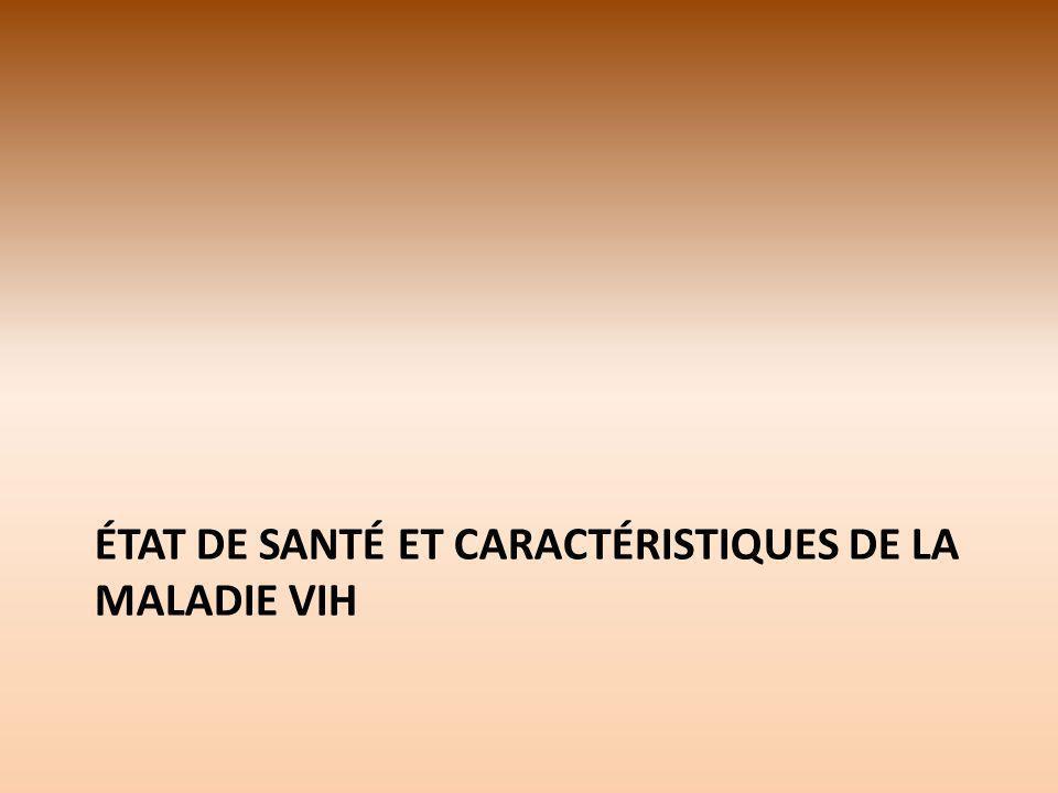 ÉTAT DE SANTÉ ET CARACTÉRISTIQUES DE LA MALADIE VIH